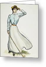 Gibson Girl, 1899 Greeting Card