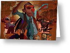 Gitanos  Greeting Card by Nelson Dedos Garcia