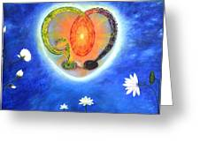 God Lives In My Heart Greeting Card