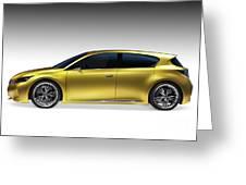 Gold Lexus Lf-ch Hybrid Car Greeting Card