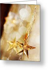 Golden Christmas Stars Greeting Card