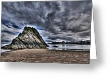Goscar Rock Tenby Greeting Card