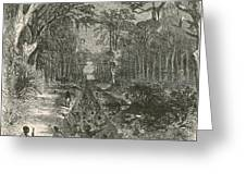 Grants Canal, 1862 Greeting Card by Photo Researchers