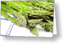 Green Asparagus Greeting Card