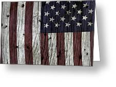 Grungy Textured Usa Flag Greeting Card