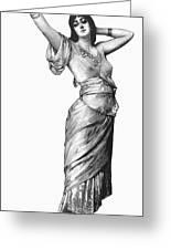 Harem Woman, 19th Century Greeting Card