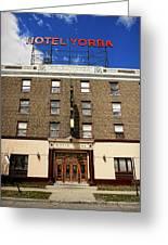 Hotel Yorba Greeting Card