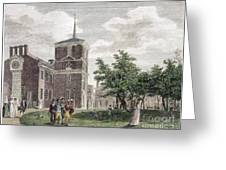 Independence Hall, 1799 Greeting Card