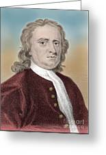 Isaac Newton, English Polymath Greeting Card by Science Source