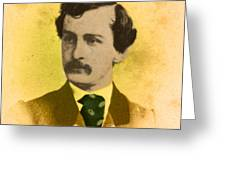 John Wilkes Booth, American Assassin Greeting Card