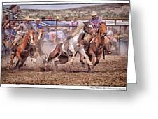 Jordan Valley Arena Action 2012 Greeting Card