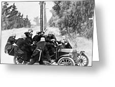 Keystone Kops Greeting Card