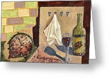 Kitchen Collage Greeting Card by Susan Schmitz