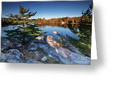 Lake George At Killarney Provincial Park In Fall Greeting Card