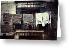 Laundry Greeting Card by Joana Kruse