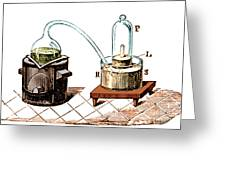 Lavoisiers Apparatus To Study Air Greeting Card