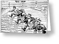 League Of Nations Cartoon - To License For Professional Use Visit Granger.com Greeting Card