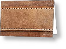 Leather With Stitching Greeting Card