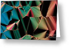Liquid Crystalline Dna Greeting Card