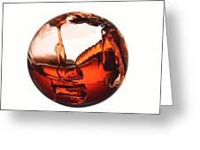 Liquid Sphere Greeting Card