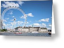 London Eye And County Hall Greeting Card