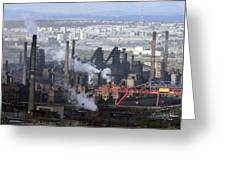 Magnitogorsk Iron And Steel Works Greeting Card