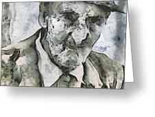Man Portrait Greeting Card by Odon Czintos