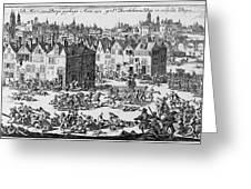 Massacre Of Huguenots Greeting Card
