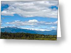 Massive Cloudy Sky Above The Wilderness  Greeting Card