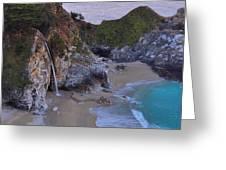 Mcway Falls - Big Sur Greeting Card
