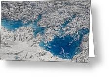 Meltwater Lakes On Hubbard Glacier Greeting Card
