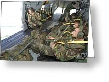 Members Of The Pathfinder Platoon Greeting Card