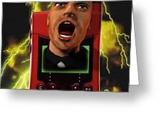 Mobile Phone Rage Greeting Card