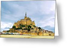 Mont Saint Michel Greeting Card by Elena Elisseeva