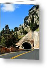 Mountain Tunnel. Greeting Card