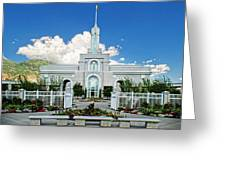 Mt Timpanogas Temple Greeting Card