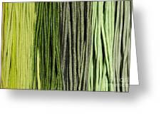 Multi-colored Striped Fabrics Greeting Card