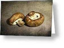 2 Mushrooms Greeting Card