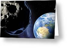 Near-earth Asteroid, Artwork Greeting Card