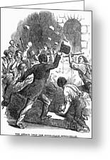 New York: Astor Place Riot Greeting Card