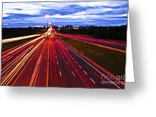 Night Traffic Greeting Card