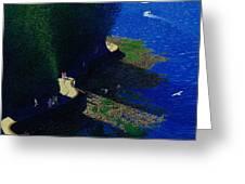 North Seawall At Low Tide Greeting Card