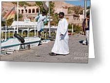 Nubians Nile Philae Greeting Card