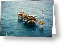 Oil Platform Greeting Card