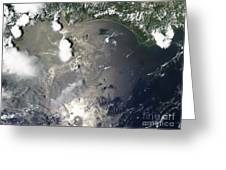 Oil Slick In The Gulf Of Mexico Greeting Card by Stocktrek Images