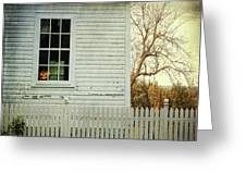 Old Farm  House Window  Greeting Card by Sandra Cunningham