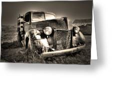 Old Truck At Bodie Greeting Card