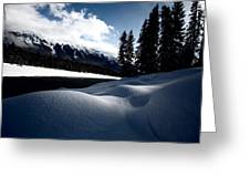 Open Water In Winter Greeting Card