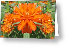 Orange Fantasy Greeting Card