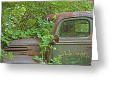 Overgrown Rusty Ford Pickup Truck Greeting Card